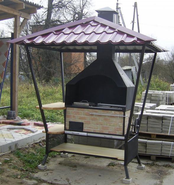 Крыша на мангал своими руками сделать